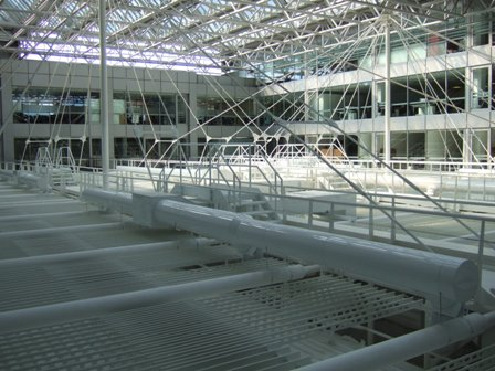 White Painted Aluminium Installation. Image courtesy of Thermal Technical Services Ltd.