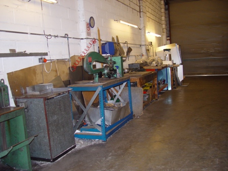A line of work benches used to produce a clients order.
